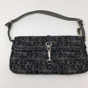 Coach Signature Demi clip bag